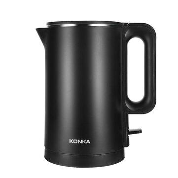 KONKA KEK-KM18 1.7L / 1500W Double Anti Hot Electric Kettle 304 Stainless Steel 6min Fast Boiling