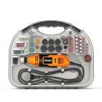 Η τιμή είναι ανάλογη του πακέτου που θα διαλέξετε | HILDA 220V 200W Electric Mini Drill Grinder Engraving Pen Electric Grinding Machine with 210pcs Rotary Tool Accessories