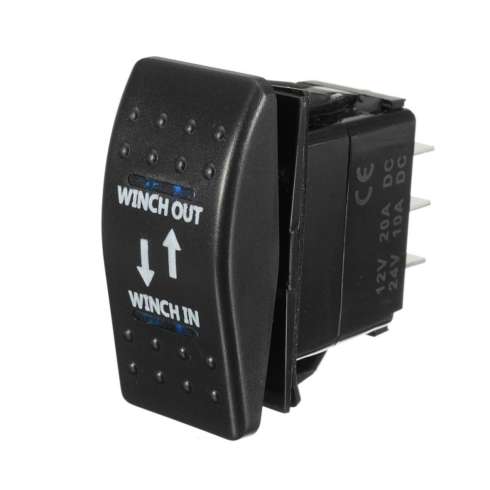 medium resolution of 12v 20a on off on rocker switch momentary winch in winch out led 7 pin blue l cod