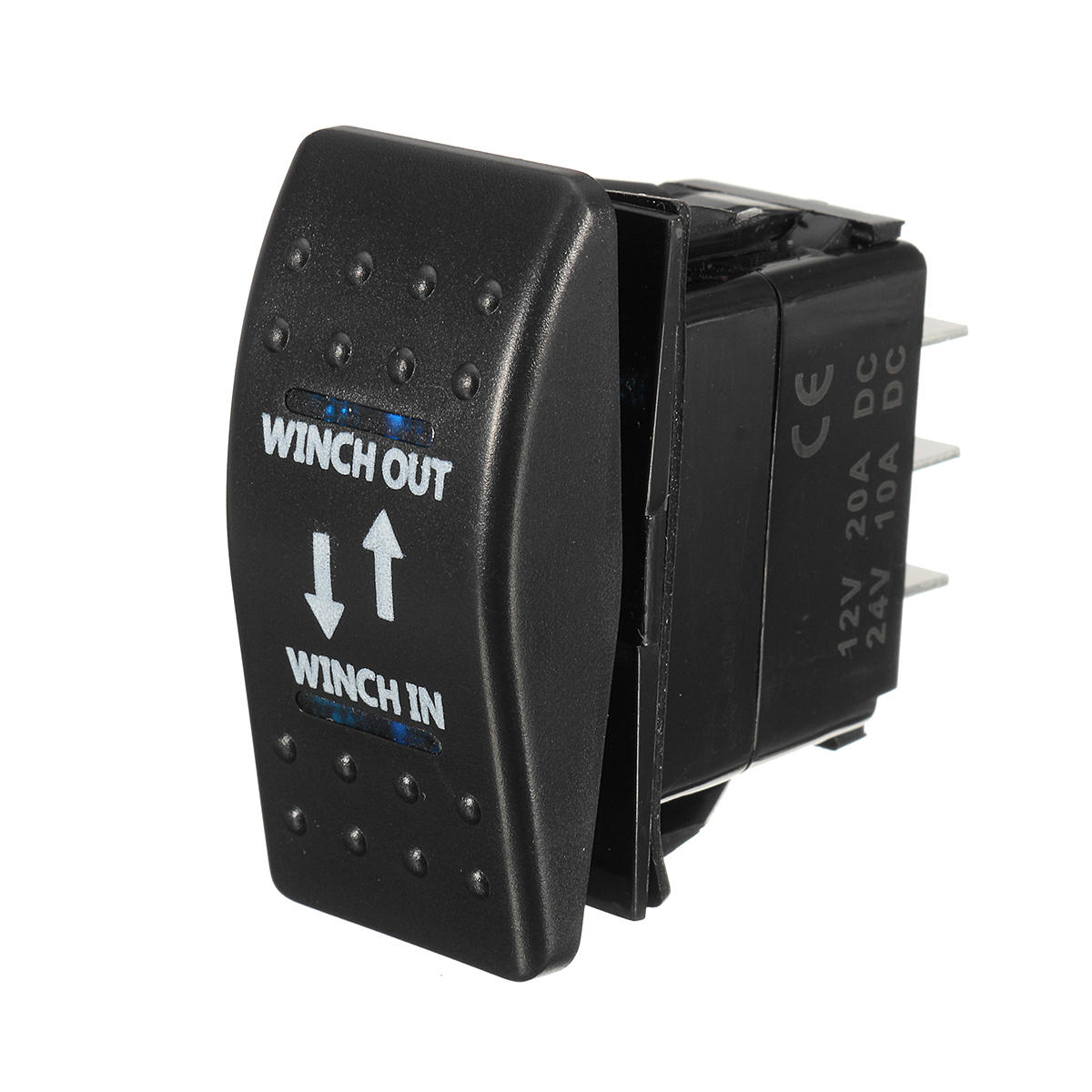hight resolution of 12v 20a on off on rocker switch momentary winch in winch out led 7 pin blue l cod