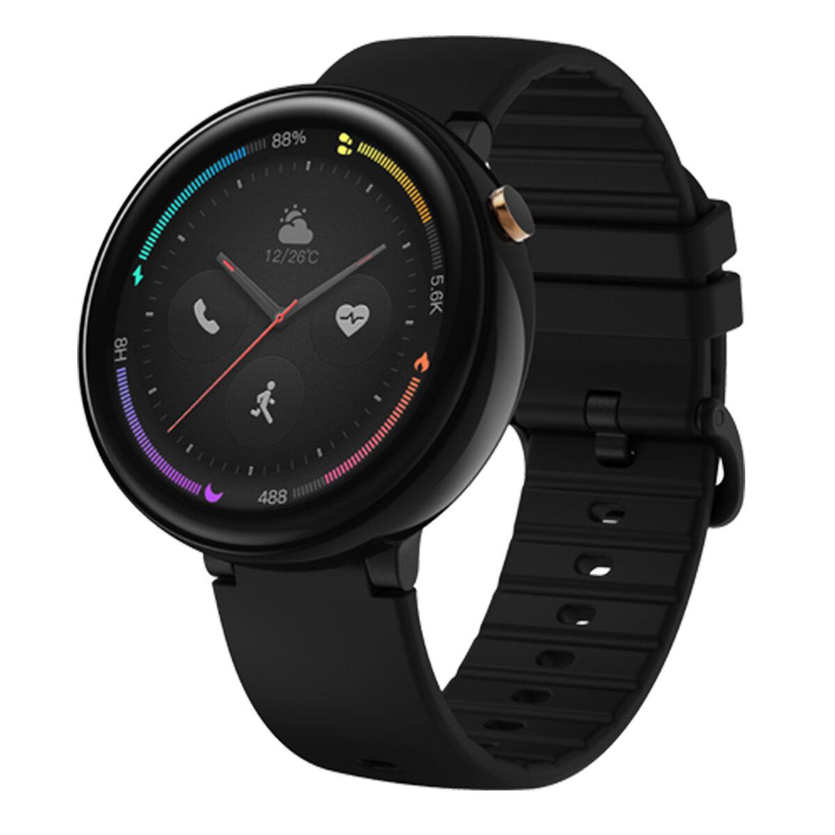 Original Amazfit Nexo Smart Watch Chinese Version Ceramic Bezel 2.5D AMOLED Retina Screen GPS 10 Sports Mode Smart Watch
