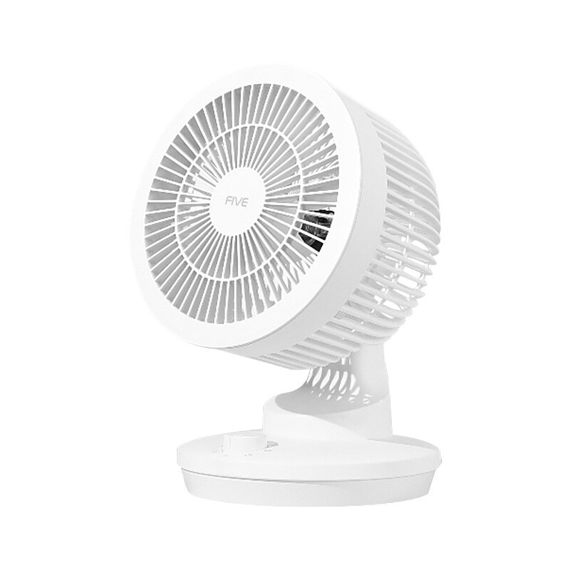 FIVE YSDFS001XD Air Circulation Fan 3D Circulation Desktop Fan 120°Large Wide Angle Shaking 3 Gear Natural Wind Low Noise for Bedroom Office Home
