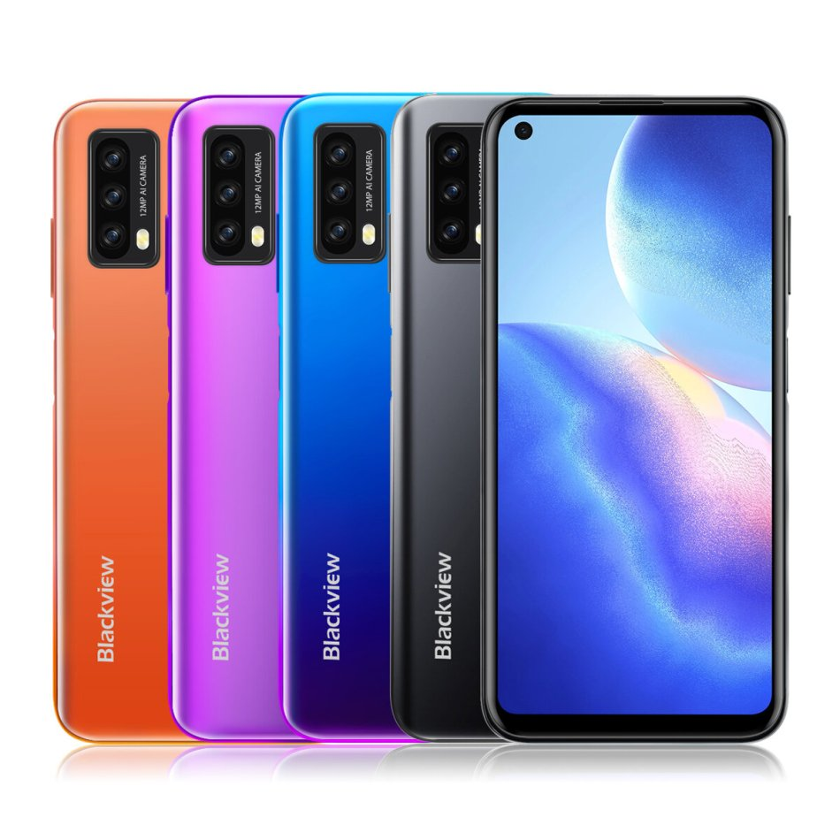 Blackview A90 Global Version NFC 6.39 inch HD+ 4280mAh Android 11 12MP 4GB 64GB Helio P60 Octa Core 4G Smartphone
