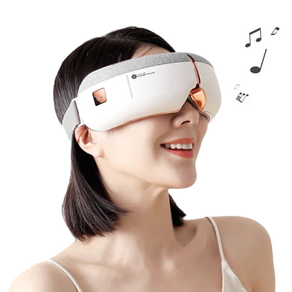 [Works with HUAWEI HiLink] KAISUM A3 Foldable Wireless Eye Massager with 8 Airbags 5 Modes Surround Stereo Sound Sleeping Headphone Eye Care Hot Compress Glasses