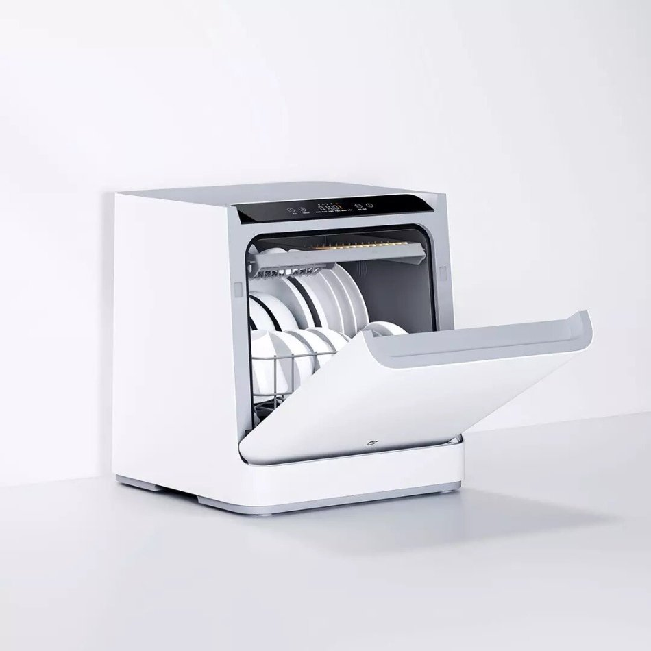 Xiaomi Mijia VDW0401M Internet Desktop Dish Washer for 4 Sets 6D Double Spray System 99.99% Sterilization Mijia Xiaoai Control