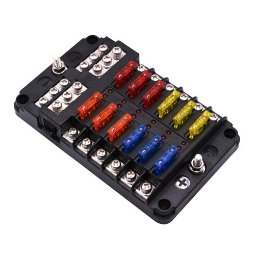 small resolution of 1 in 12 out way car fuse box power plug type fuse box seat with led indicator cod