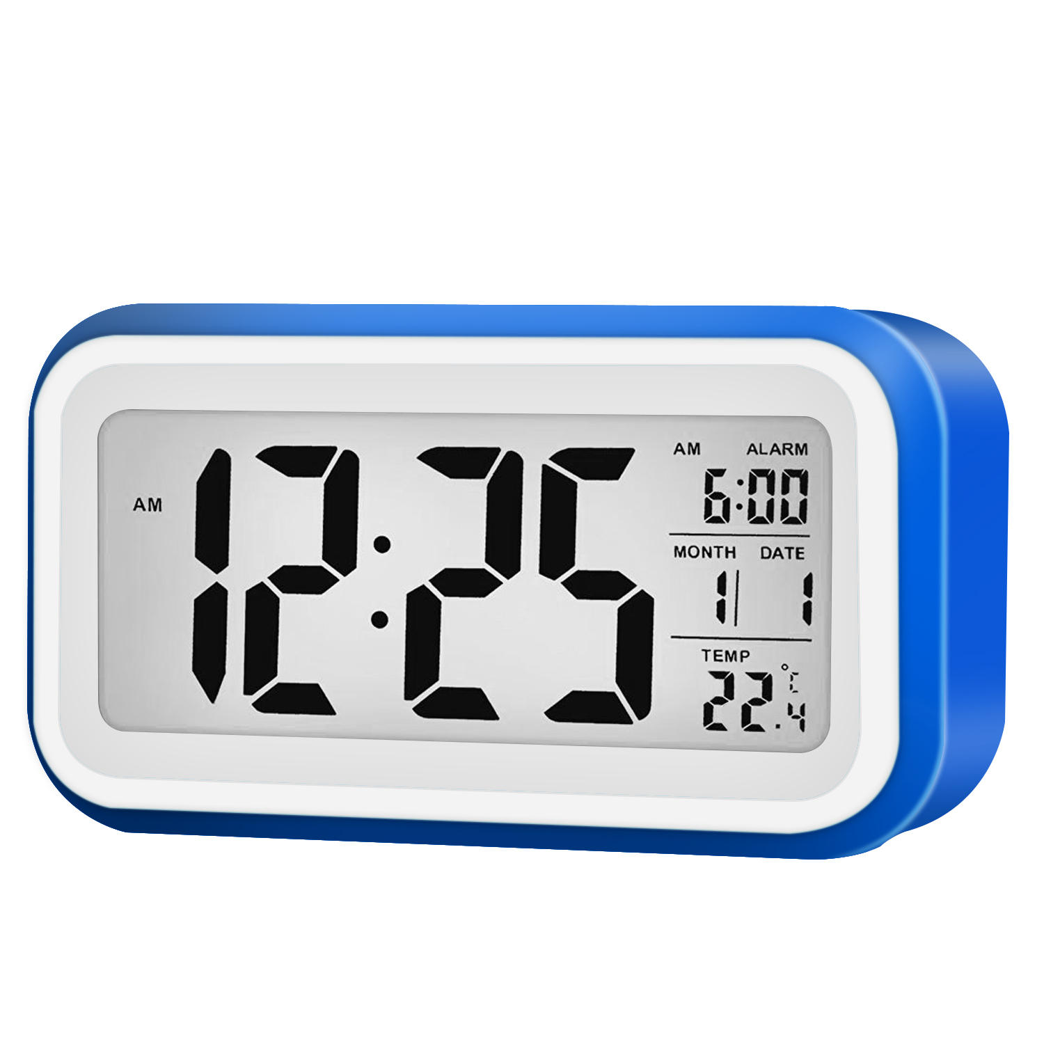 Digital Lcd Display Alarm Clock With 12 24 Hour Switchable