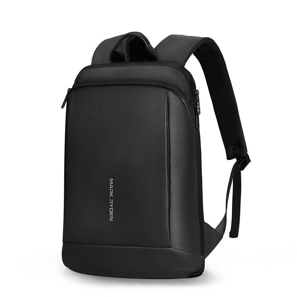 MARK RYDEN MR9813 Men Backpack Slim Laptop Backpack 15.6 inch Ultra Thin Waterproof Business Bag Unisex Black Ultralight Backpack