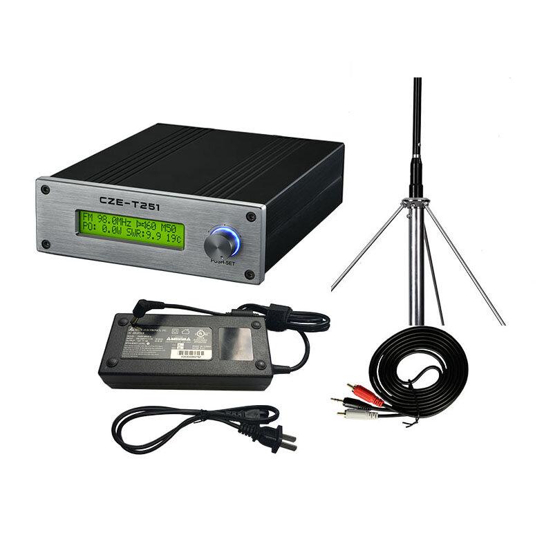 CZERF CZE-T251 25W Wireless Long Range FM Transmitter Mini Audio Amplifier 87-108MHz Adjustable
