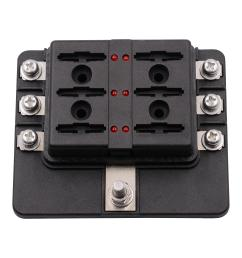 12 32v 6 way 12 blade fuse box holder led warning lights car race12 32v 6 [ 2000 x 2000 Pixel ]