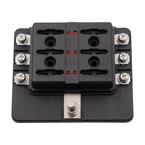 small resolution of 12 32v 6 way 12 blade fuse box holder led warning lights car race12 32v 6