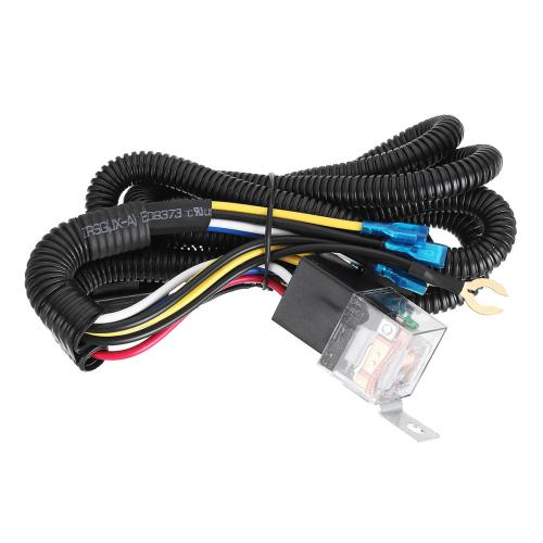 small resolution of 12 24v 100cm horn wiring harness relay kit double speaker harness for car truck cod