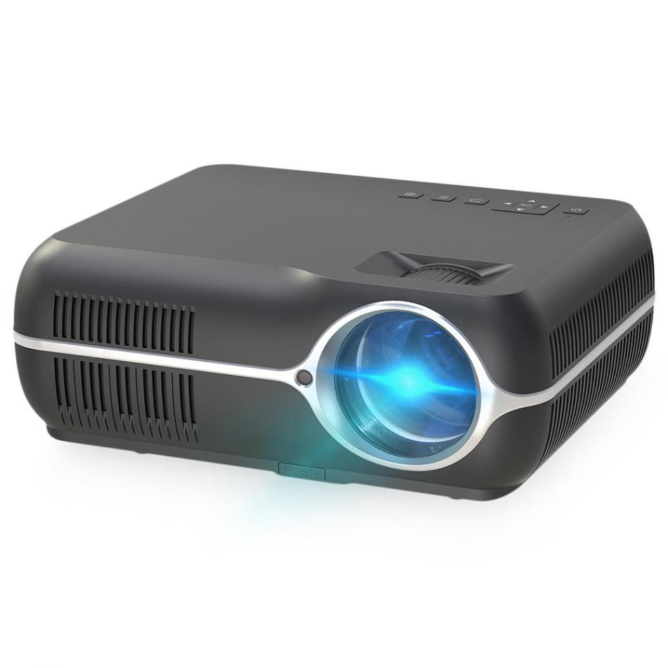 DH-A10 LCD Projector Android 6.0 1G+8G 4200 Lumens 1280x800P Resolution 10000:1 Contrast Ratio Support 3D Home Theater Projector