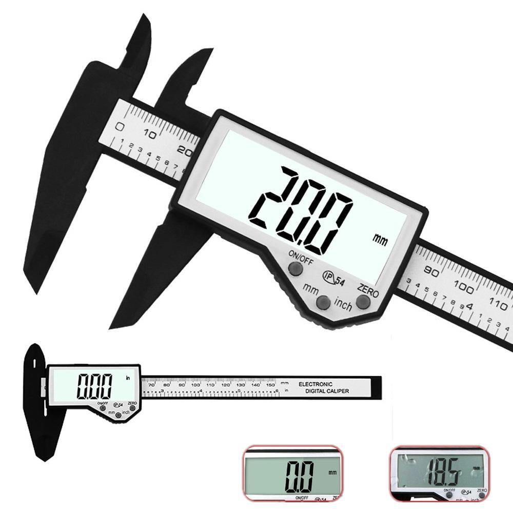 medium resolution of daniu digital caliper 6 inch 150mm electronic waterproof ip54 digital vernier caliper lcd screen display micrometer measuring tool caliper cod