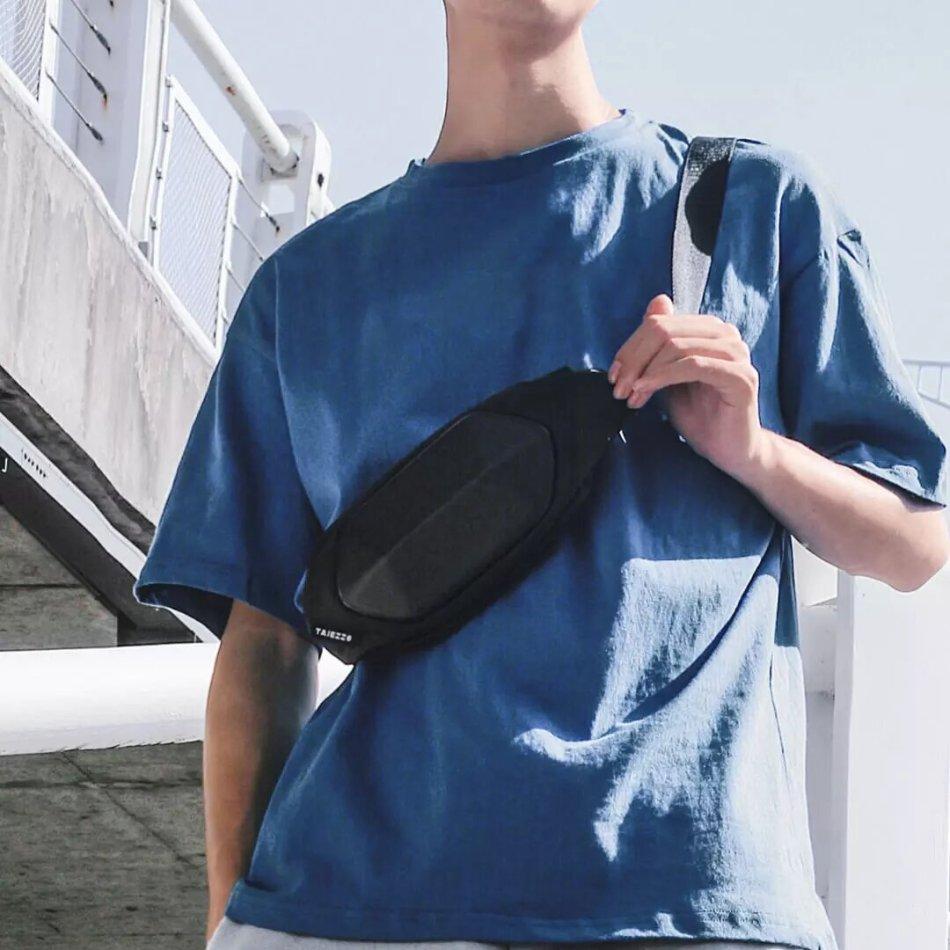 Tajezzo Multifunction Casual Waterproof Waist Bags Fashion Travel Crossbody Chest Bags For men/women Outdoor Sport From XiaomiYoupin