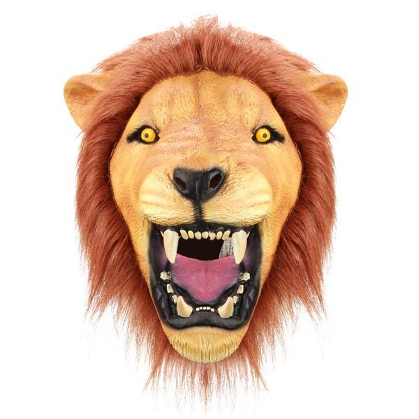 creepy angry lion mask