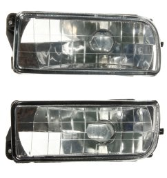 car front bumper fog lights clear glass lens with no bulb for bmw e36 3 series 1992 1998 cod [ 1100 x 1100 Pixel ]