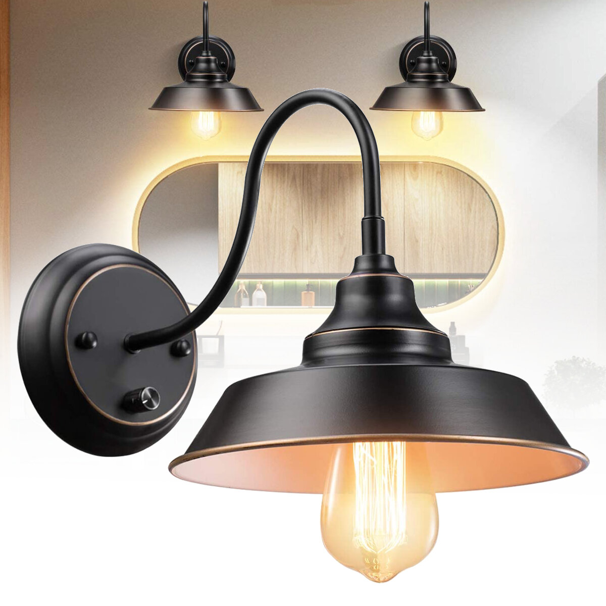 E27 Vintage Wall Lamp American Style Indoor Light For Home Hallway Corridor Ac220v Sale Banggood Com Arrival Notice