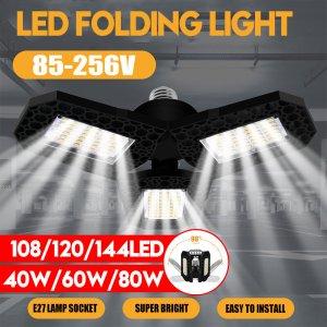 Στο βίντεο που σας έχω στην περιγραφή έχω φέρει μια παρόμοια λάμπα.. | 40W 60W 80W E27 LED Bulb SMD2835 Foldable Garage Light Deformable Ceiling Fixture Workshop Lamp AC85-265V