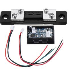 mini digital blue red led dc current meter voltmeter with ampere shunt cod [ 1200 x 1200 Pixel ]