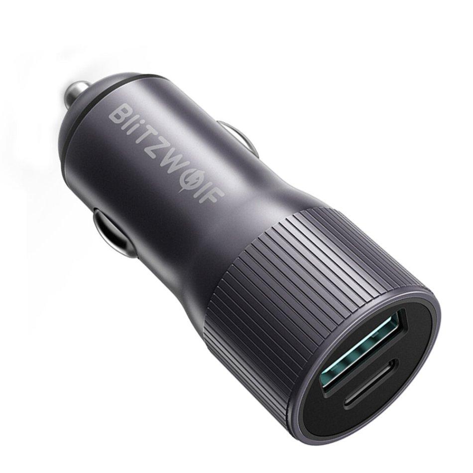 BlitzWolf® BW-SD4 36W USB Type C PD Fast Charging Mini Car Charger For iPhone X XS Max Xiaomi Mi9 Pocophone F1 S10 S10+
