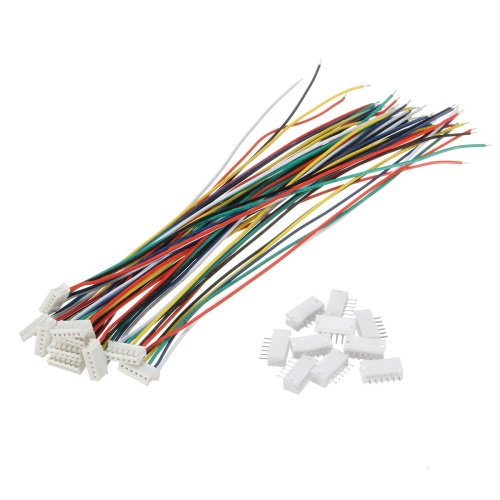 small resolution of excellway mini micro jst 1 5mm zh 6 pin connector plug and wires cables 15cm 10 set cod