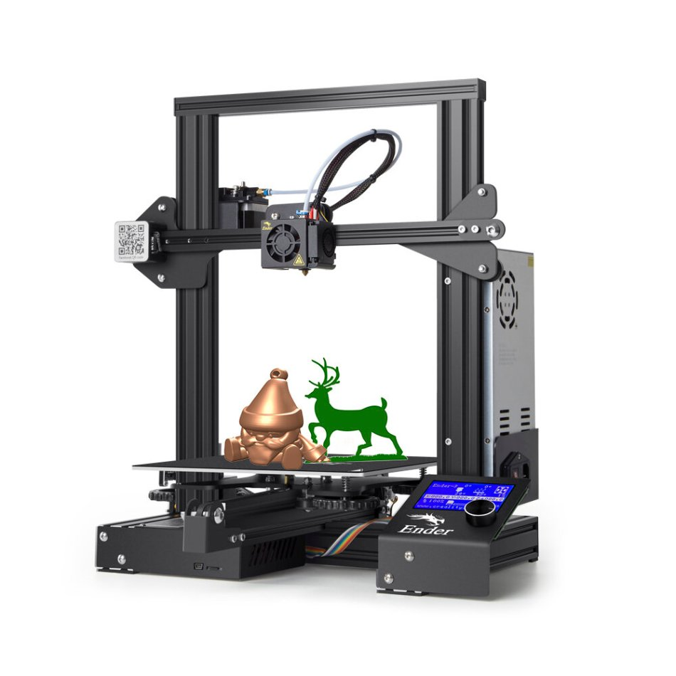 Creality 3D® Ender-3 Prusa I3 DIY 3D Printer Kit 220x220x250mm Printing Size With Power Resume Function/V-Slot with POM Wheel/1.75mm 0.4mm Nozzle