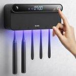 Στα €21.70 από αποθήκη Κίνας | KCASA KC TS1 Intelligent Toothbrush Sterilizer Wall Mounted Timming UV Disinfection Toothbrush Disinfectant Holder With LED Displayed