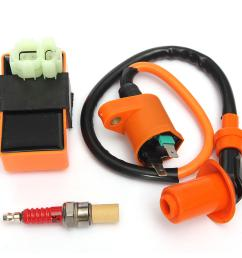 wiring diagram chinese ignition coil racing cdi box spark plug for gy6 50 125 150cc moped on pit  [ 1200 x 1200 Pixel ]