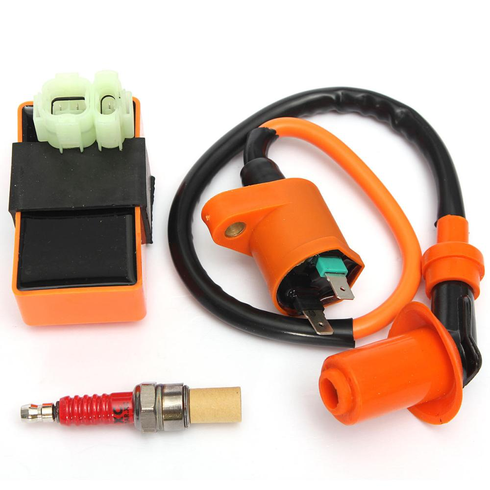 medium resolution of  wiring diagram chinese ignition coil racing cdi box spark plug for gy6 50 125 150cc moped on pit