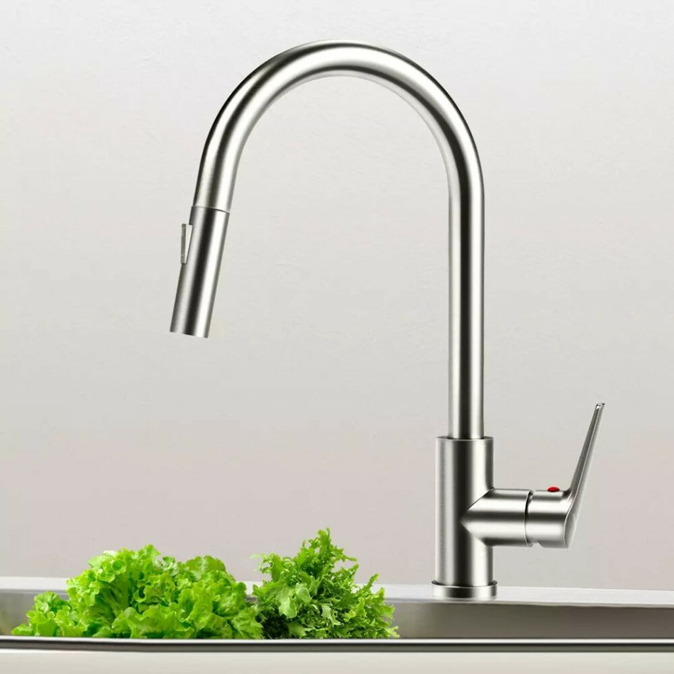 New Viomi Brand Stainless Steel Kitchen Basin Sink Faucet Tap 360 ° Pull Out Rotation Single Handle Cold Hot Switching Bubble Spray Water Mixer Deck Mount Aerater from Xiaomi Youpin