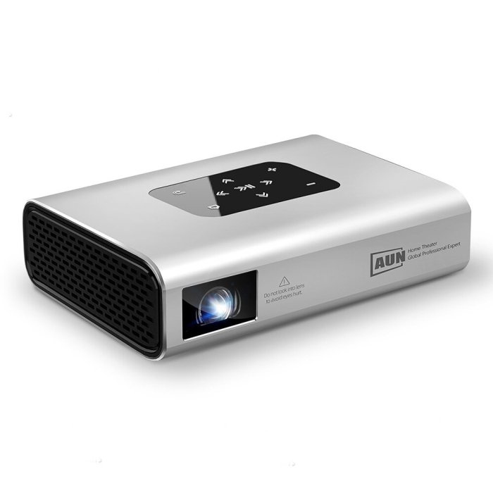 AUN X5 DLP Projector MINI Portable Movie Projector 1080P 4K Resolution 6800 Lumens Android7.0 2+16GB WIFI 3D 10500mAH Battery 300inch Bluetooth 5.0 Outdoor Home Video Theater