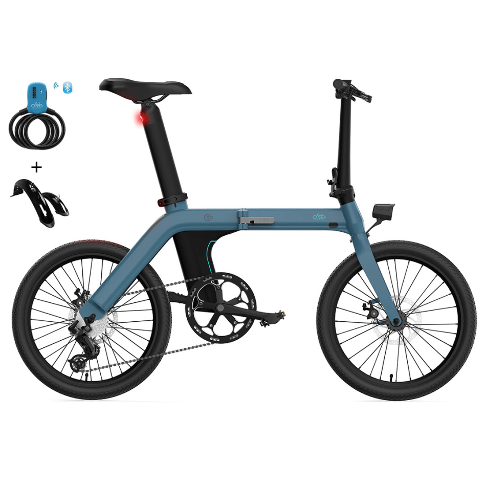 [EU Direct] FIIDO D11 11.6Ah 36V 250W 20 Inches Folding Moped Bicycle 25km/h Top Speed 80KM-100KM Mileage Range Electric Bike