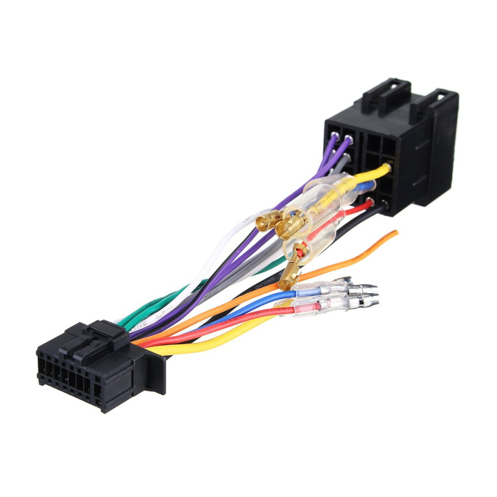 medium resolution of 16pin car stereo radio wiring harness connector plug iso pi100 for car stereo 16 pin wire harness further pioneer car stereo wiring
