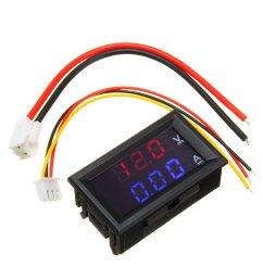 mini digital voltmeter ammeter dc 100v 10a panel amp volt voltage current meter tester 0 56 blue red dual led display cod [ 1000 x 1000 Pixel ]