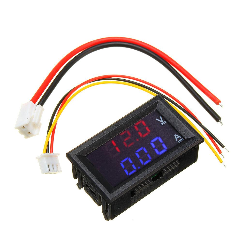 hight resolution of mini digital voltmeter ammeter dc 100v 10a panel amp volt voltage current meter tester 0 56 blue red dual led display cod
