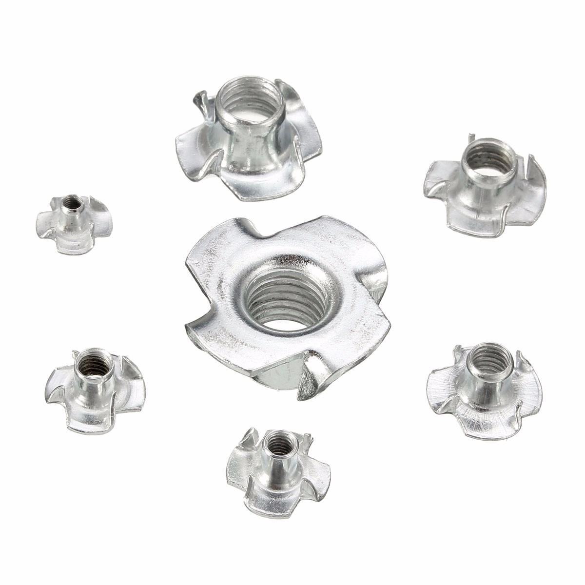 Suleve Cstn1 Four Prong T Nut Inserts Carbon Steel Zinc