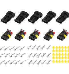 15 kits 2 3 4 pins way sealed waterproof electrical wire connector plug motorcycle car auto cod [ 1200 x 1200 Pixel ]