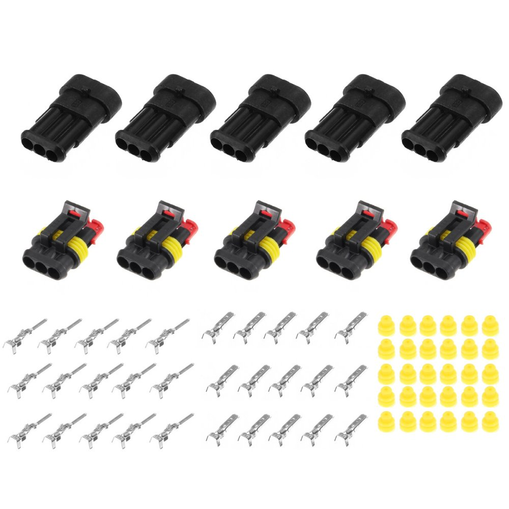 medium resolution of 15 kits 2 3 4 pins way sealed waterproof electrical wire connector plug motorcycle car auto cod