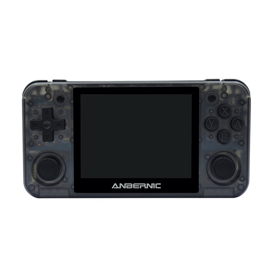 ANBERNIC RG350P 16GB 6000 Games Video Game Console with 32GB Memory Card 3.5 inch IPS HD OLeophobic Toughened Screen 64 Bit DDR2 512M Retro Handheld Video Game Player for PS1 GBA SFC MD