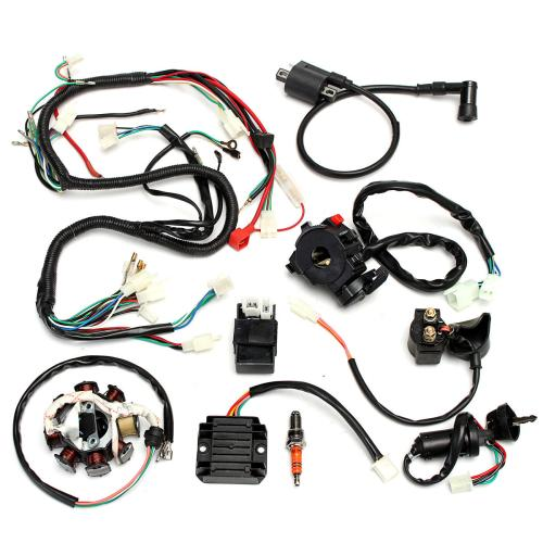 small resolution of complete electrics wiring harness for chinese dirt bike atv quad 150 250 300cc chinese 125cc wiring harness chinese wiring harness