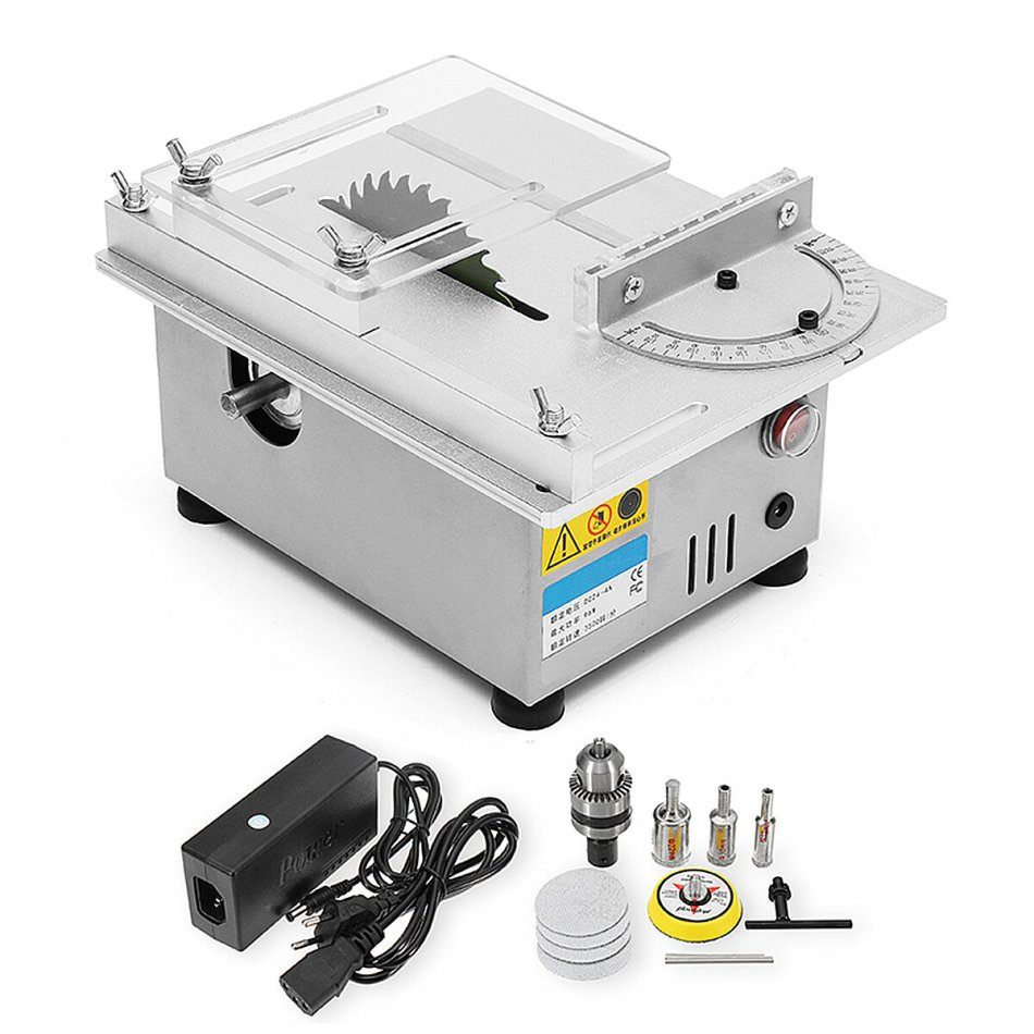 Raitool™ T4 Mini Table Saws Wood Working Bench Lathe Electric Polisher Grinder DIY Model Cutting Saw