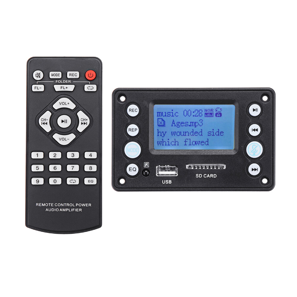 medium resolution of bluetooth 4 2 dc5v battery 12v two channel audio decoder board recording radio lyrics display ape flac wma wav mp3 cod