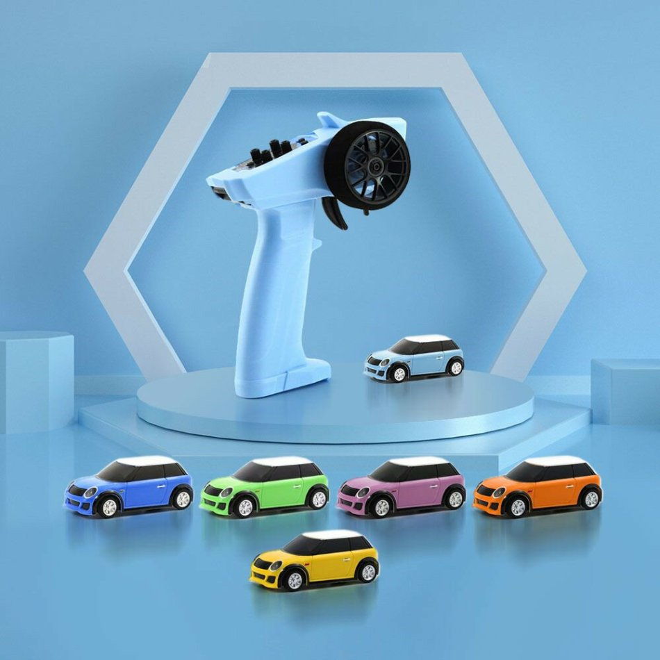 Turbo Racing RTR 1/76 2.4G RWD Fully Proportional Mini RC Car LED Light Vehicles Model Kids Children Toys