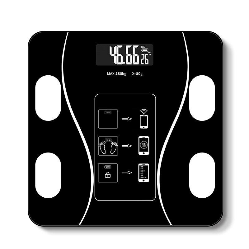 KALOAD® Smart Wireless Body Fat Scale USB+Solar Charing BMI Scales Digital Scale For Body Weight With APP Analyzer