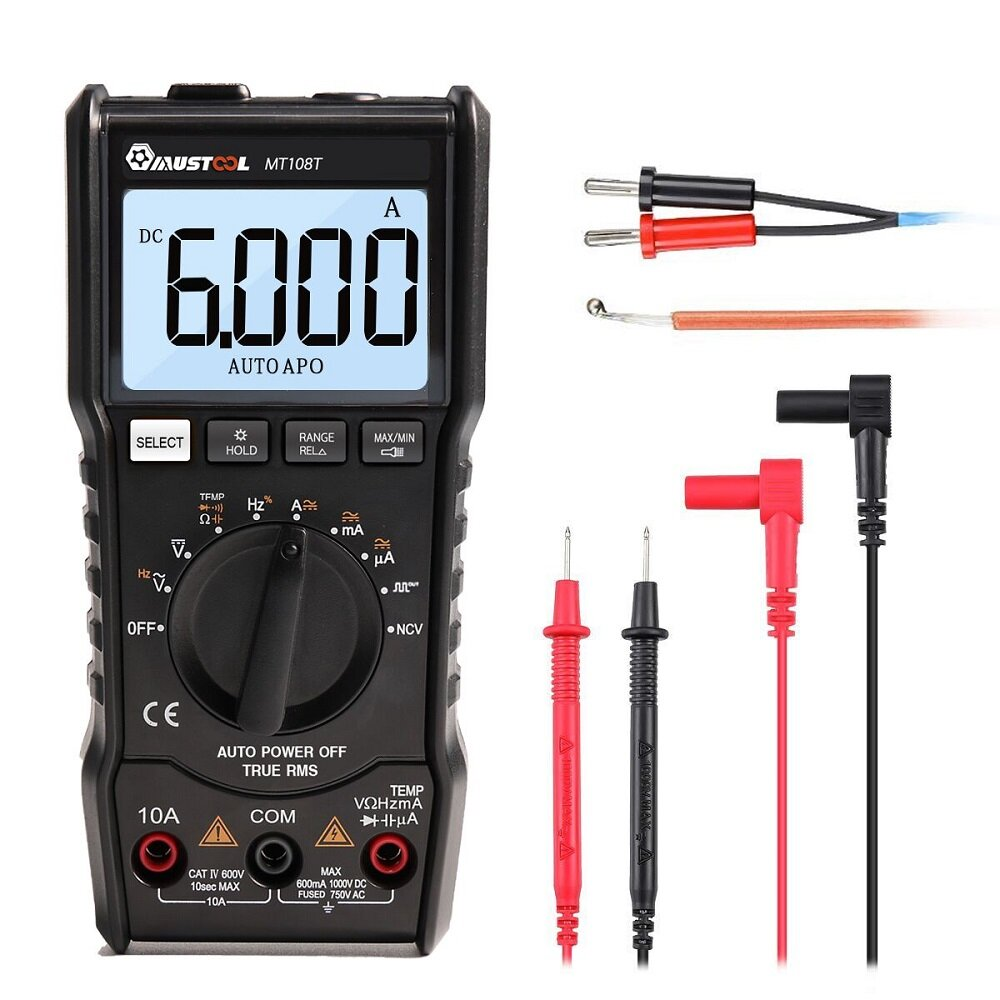 hight resolution of mustool mt108t square wave output true rms ncv temperature tester digital multimeter 6000 counts backlight ac