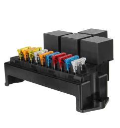auto car boat 10 way circuit standard blade fuse box block holder set 12v 80a cod [ 1200 x 1200 Pixel ]
