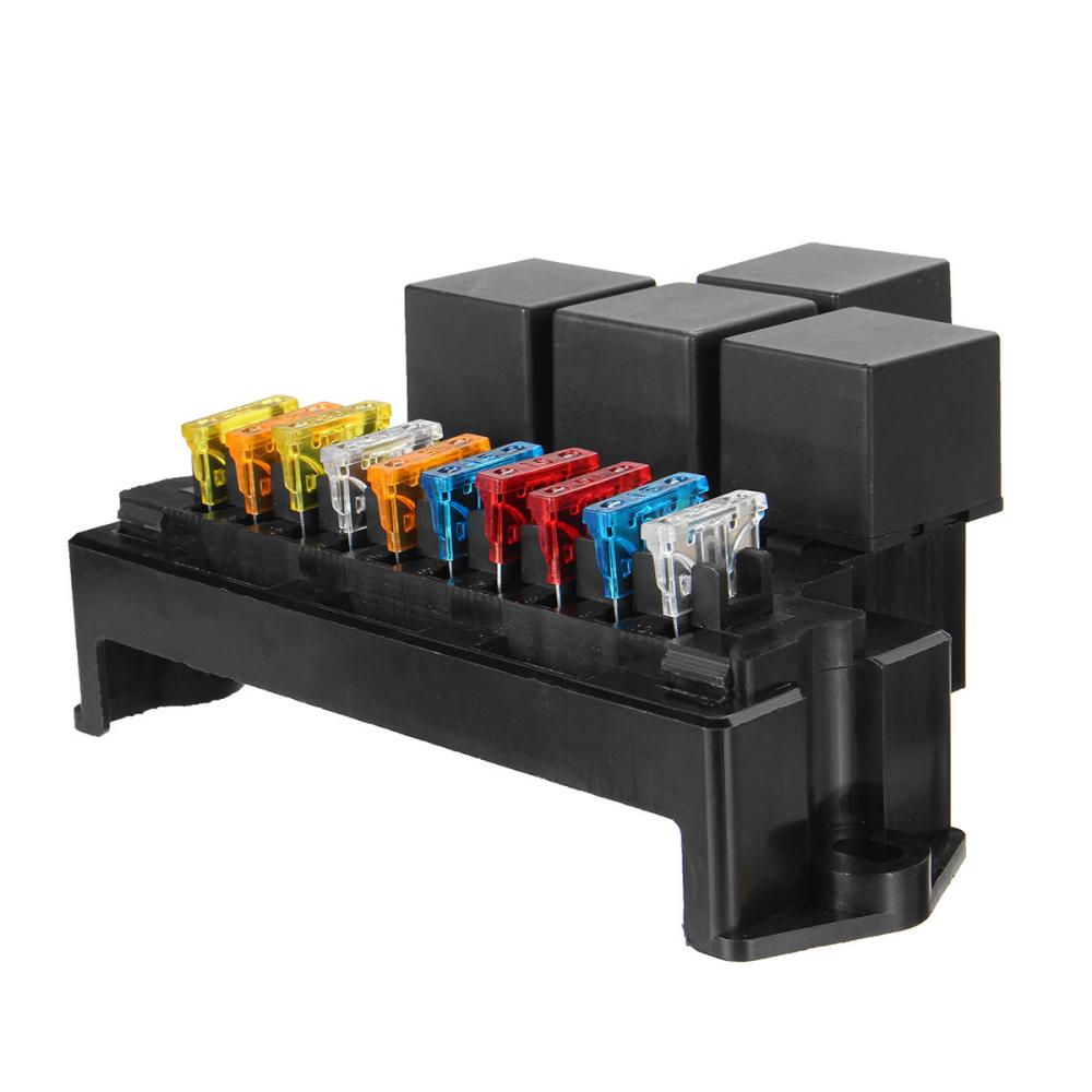 medium resolution of auto car boat 10 way circuit standard blade fuse box block holder set 12v 80a cod