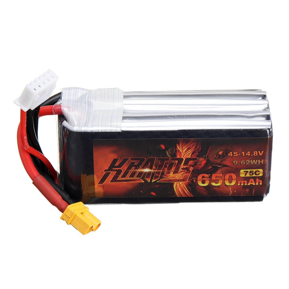HGLRC KRATOS 14.8V 650mAh 75C 4S Lipo Battery XT30 Plug for RC Racing Drone