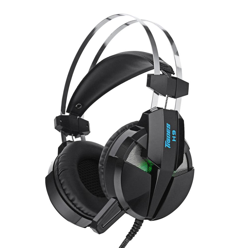 medium resolution of misde h9 gaming headphone headset led light stereo noise cancelling headphone with mic black b cod